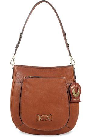 Hidesign Women Tan Brown Solid Leather Shoulder Bag