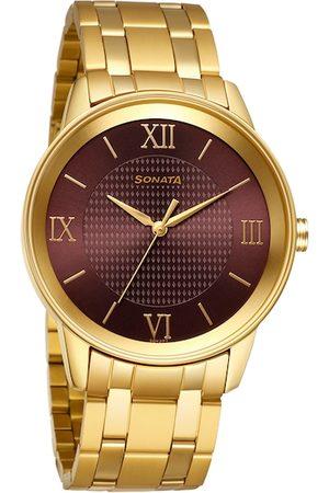 Sonata Utsav Men Purple Analogue Watch 7133YM03