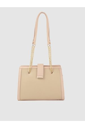 Lino Perros Beige Solid Shoulder Bag