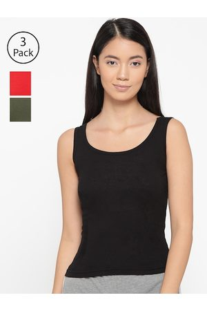 Lady Lyka Women Pack Of 3 Solid Tank Top Camisoles CAMI-05
