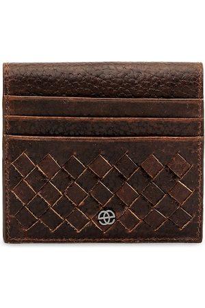 Eske Men Brown Textured Card Leather Holder