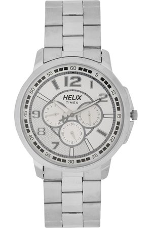 Helix Men Silver-Toned Analogue Watch TW027HG28