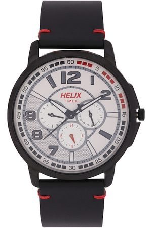 Helix Men Off-White Analogue Watch TW027HG26