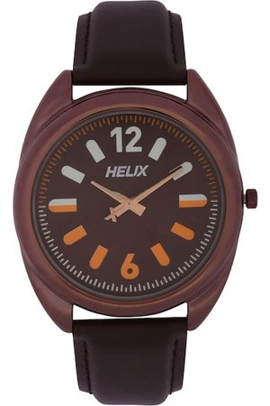 Helix Men Brown Analogue Watch TW038HG02