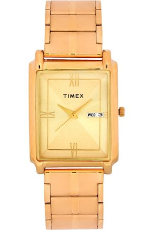 Timex Men Gold-Toned Analogue Watch TW000W910