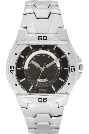 Timex Men Black & Silver-Toned Analogue Watch TW000EL07