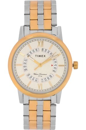 Timex Men Silver-Toned & Rose Gold Analogue Watch TW000T128
