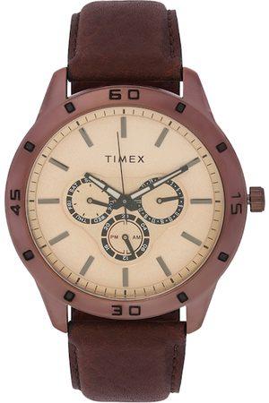 Timex Men Brown Tachymeter Analogue Watch TW000U915