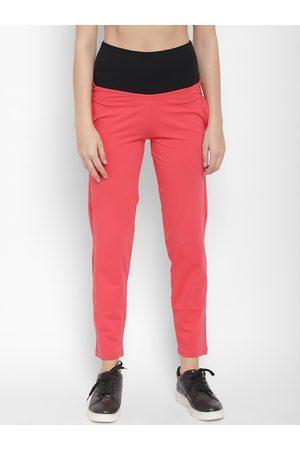 Florett Women Pink Solid Slim-Fit Track Pants