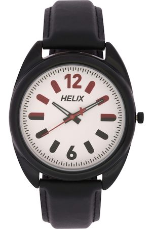 Helix Men Off-White Analogue Watch TW038HG03