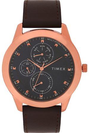 Timex Men Black & Rose Gold Analogue Watch TWEG18504