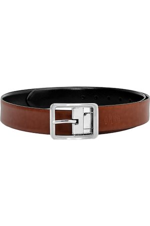 Eske Men Brown & Black Solid Belt