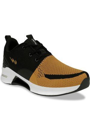 Campus Men Mustard Yellow & Black Mesh Running Shoes