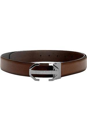 Eske Men Brown Solid Belt