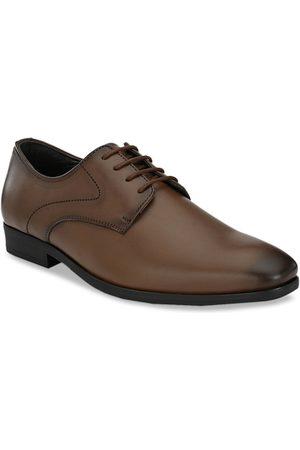 San Frissco Men Brown Solid Formal Derbys