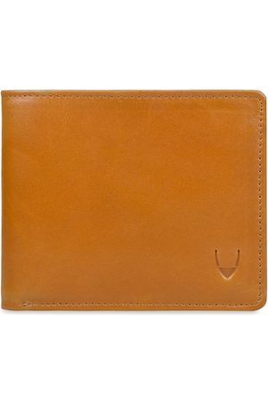 Hidesign Men Tan Brown Solid Leather RFID Protected Two Fold Wallet