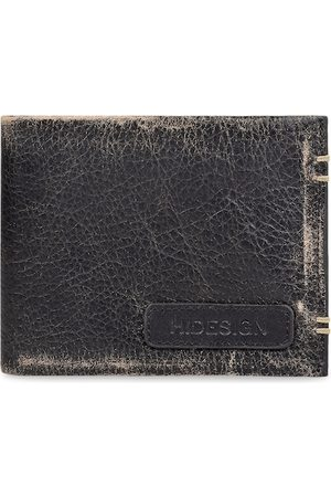 Hidesign Men Black Solid Leather Two Fold Wallet