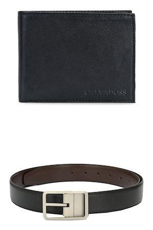 Calvadoss Men Black & Brown Premium Accessory Gift Set