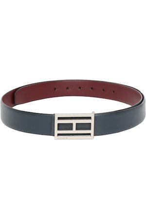 Tommy Hilfiger Men Maroon & Navy Blue Solid Reversible Belt