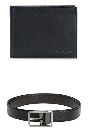 Calvadoss Men Black Premium Accessory Gift Set