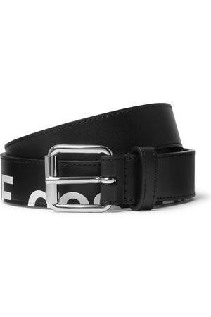 Comme des Garçons Men Belts - 3cm Logo-Print Leather Belt