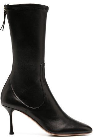 Francesco Russo Rear-zip pointed boots