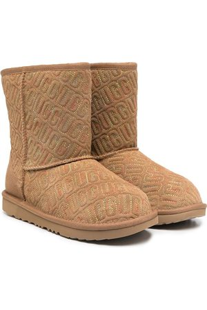 UGG Girls Ankle Boots - Classic II Graphic Stitch boots