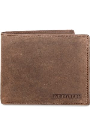 WildHorn Men Tan Brown Solid RFID Protected Genuine Leather Two Fold Wallet