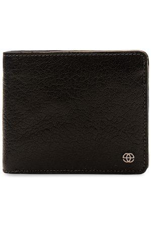 Eske Men Brown Leather Solid Two Fold Wallet