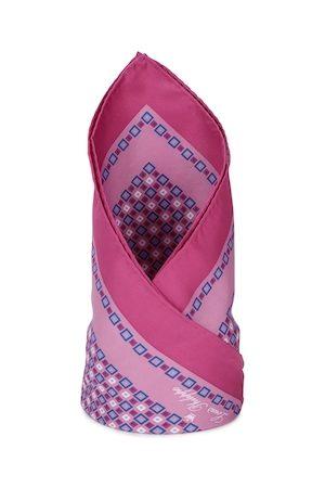 Louis Philippe Men Pink Printed Pocket Square