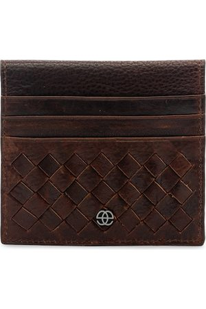 Eske Men Brown Leather Textured Card Holder