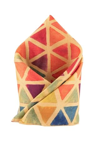 The Tie Hub Men Multicoloured Printed Pocket Square