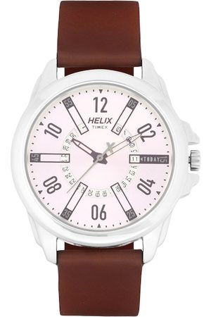 Helix Men Brown Analogue Watch TW032HG11