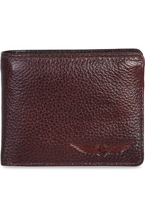 CHRISTOPOLO Men Maroon Textured Leather Two Fold Wallet