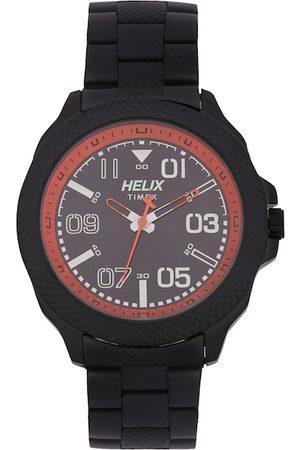 Helix Men Black Analogue Watch TW034HG09