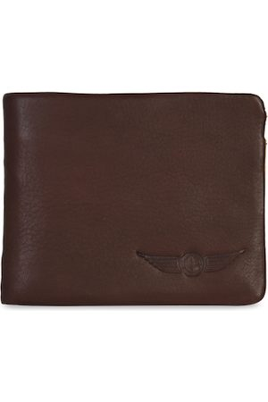 CHRISTOPOLO Men Brown Solid Leather Two Fold Wallet