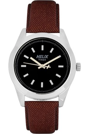 Helix Men Black Analogue Watch TW031HG06