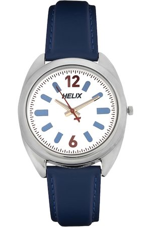Helix Men White Analogue Watch TW038HG01