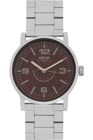 Helix Men Brown Analogue Watch TW035HG05
