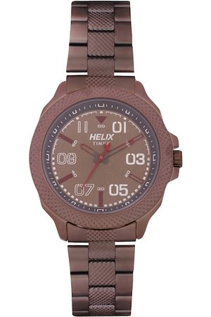 Helix Men Brown Analogue Watch TW034HG11
