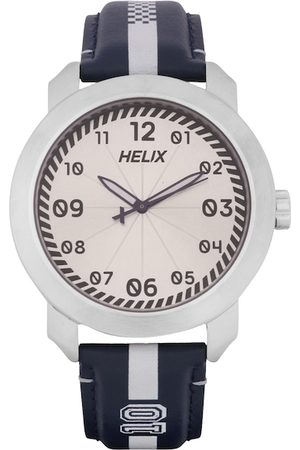 Helix Men Silver-Toned Analogue Watch TW036HG07