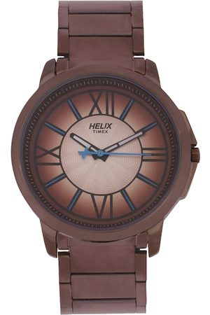 Helix Men Brown Analogue Watch TW027HG31