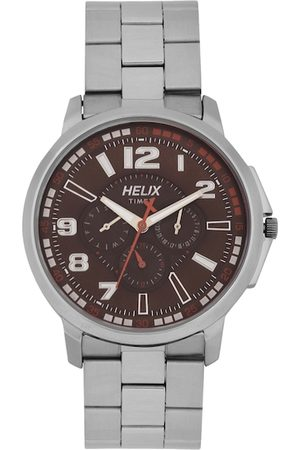 Helix Men Brown Analogue Watch TW027HG29