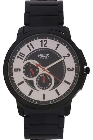 Helix Men Silver-Toned Analogue Watch TW027HG32