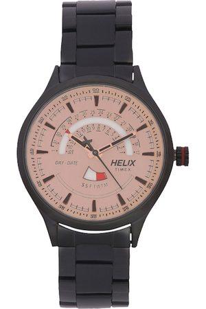 Helix Men Beige Analogue Watch TW003HG20
