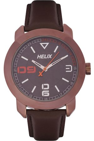 Helix Men Brown Analogue Watch