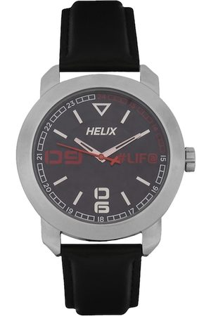 Helix Men Black Analogue Watch TW036HG06