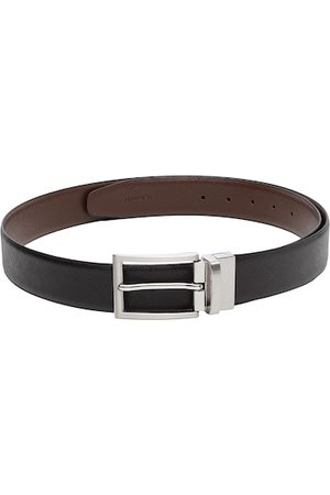 WELBAWT Men Black & Brown Reversible Leather Belt