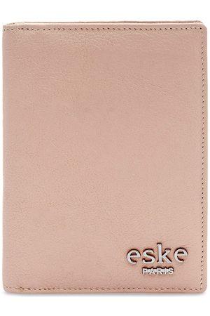 Eske Men Pink Solid Leather Passport Holder