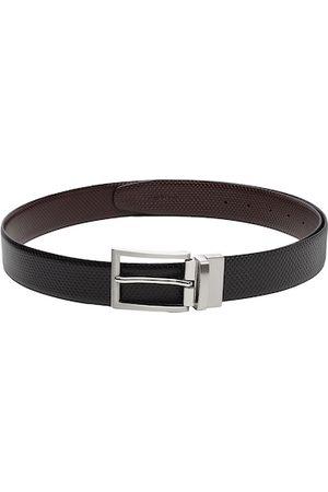 adidas Men Black & Brown Reversible Leather Belt